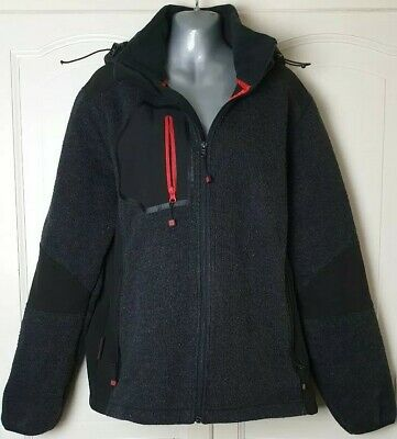 Mountain Warehouse Mens Coat Jacket Black And Red Showerproof All Weather Hiking