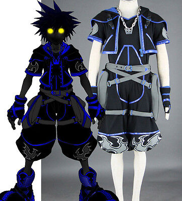 Kingdom Hearts Roxas Sora Cosplay costume Kostüm Kleidung set top schwarz - Roxas Kingdom Hearts Kostüm