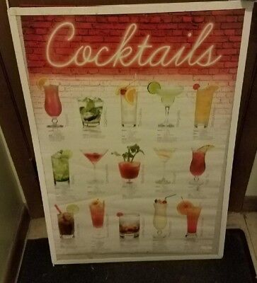 COCKTAILS POSTER NEW 2010  RARE VINTAGE DRINKING GAMES COLLEGE TOGA PARTY