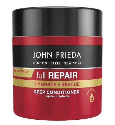JOHN FRIEDA full REPAIR HYDRATE + RESCUE DEEP CONDITIONER Dry & Damaged Hair