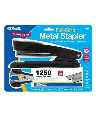 Metal Full Strip Stapler 3-in-1 Set Staple Remover And 1250 Standard Staples