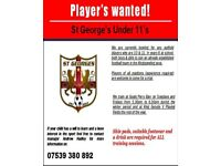 Football players wanted under 11s