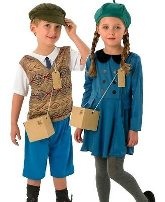 Child World War 1940s Wartime Fancy Dress Costume Kids 40's Historical WW2