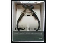 NEW Aftershokz Trekz Titanium Slate Grey Wireless Bluetooth Running Headphones