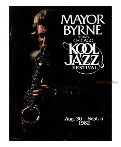 CHICAGO KOOL JAZZ FESTIVAL PROGRAM 1982 Thelonious Monk Bob Parent MJQ Brubeck
