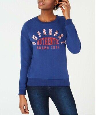 Superdry  Women's Urban Street Applique Crew Neck Sweater,Navy, 8 $54.50
