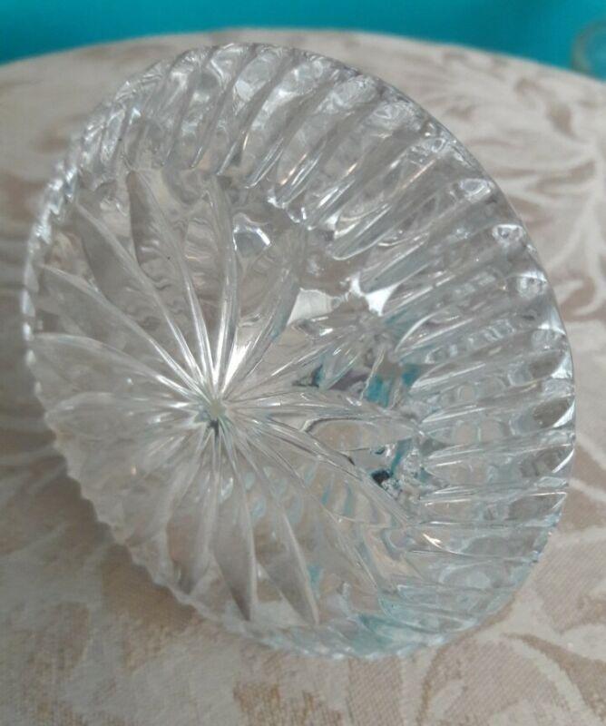 Vintage Clear Crystal Bottle Decanter Stopper Large