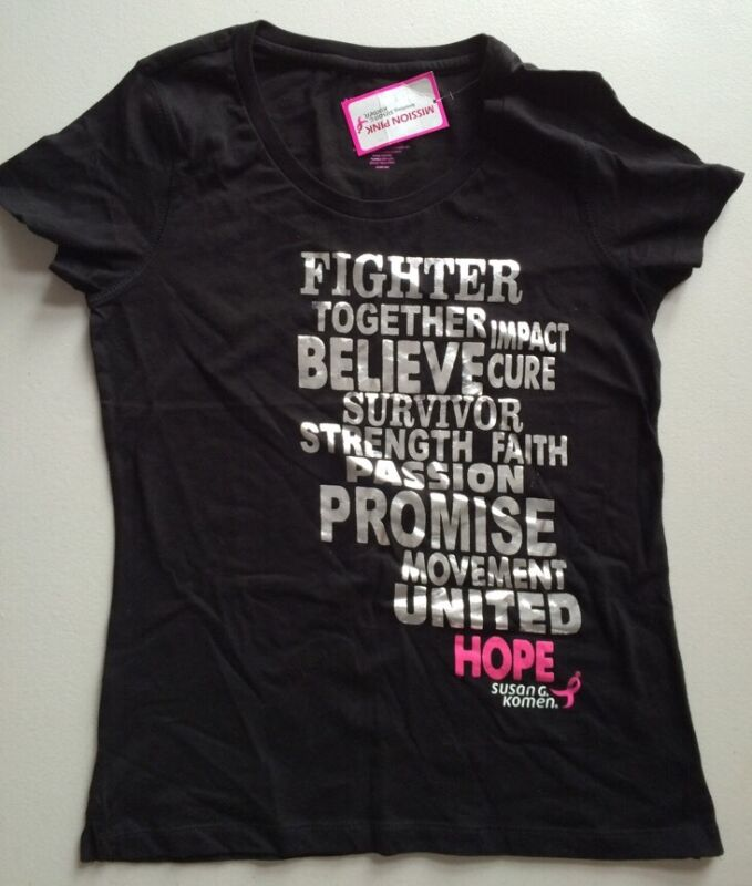 Mission Pink Womens T-Shirt Size 2XL Black