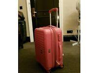 Pink luggage bag