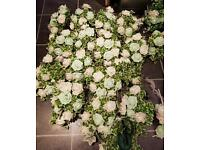 Beautiful Green and white wedding flowers
