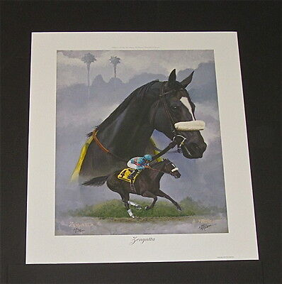 Nick Martinez - Zenyatta - Collectible Race Horse Print