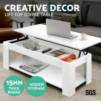 Lift Up Top Coffee Table Mechanical Convertible Tabletop Hidden Adelaide CBD Adelaide City Preview