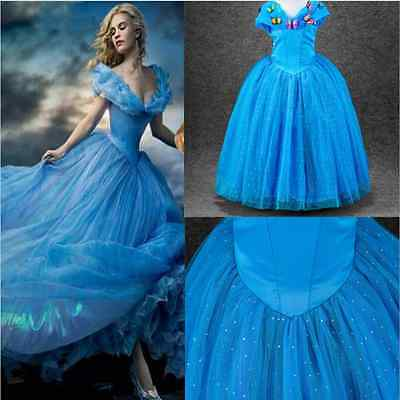 2018 Disney-Princess Deluxe Cinderella Wedding Dress UP Girl\'s Kids ...