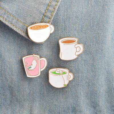 Enamel Pin Badges Set of 4 Cups of Tea EB0019