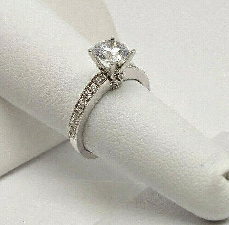House of Baguettes NEW 18k White Gold .23ctw Diamond Engagem
