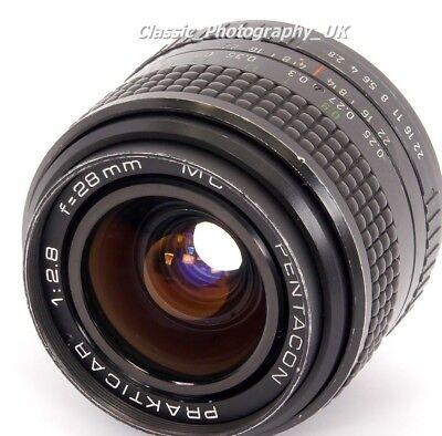 PENTACON Prakticar 1:2.8 f=28mm WIDE-Angle Lens in Praktica PB + DIGITAL SLRs