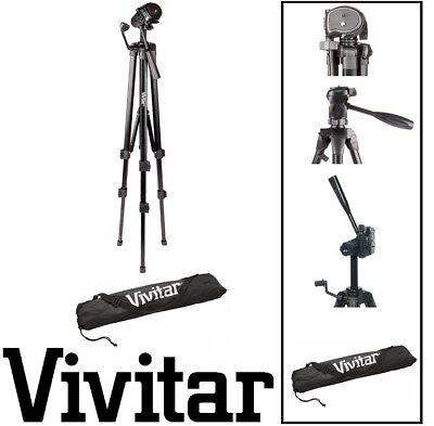 """Used, 62"""" Vivitar Pro Tripod w/Case For NIKON D5200 D3100 D5100 D4 D40 D40X D60 D90 for sale  Shipping to India"""