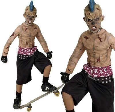 Boys ZOMBIE SKATE PUNK Fancy Dress Costume Halloween Horror Outfit - Skateboard Halloween Costumes