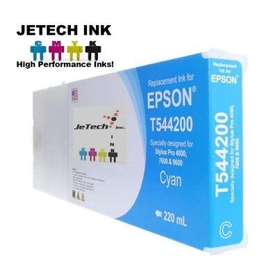 UltraChrome K2 (T544200) 220ml Ink Cartridge Compatible with Epson - Cyan 220ml Ultrachrome Cyan Ink Cartridge