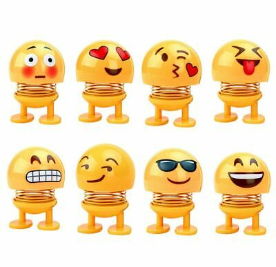 Car Accessories Decoration Toys Emoji Smiley Spring Shaking Head Doll Dashboard ()