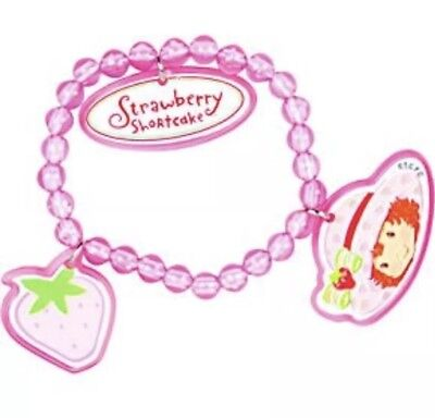 4Pc Strawberry Shortcake Charm Bracelets Party Flavors