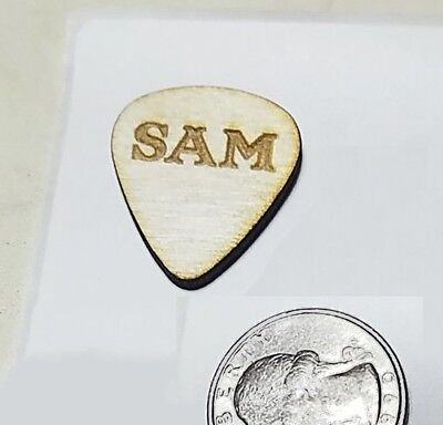 Custom Wooden Guitar Pick || Personalized Engraving on Wood