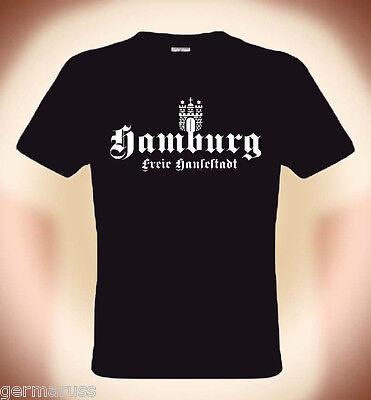 Divertente maglietta Amburgo,libera Hansenstadt,Taglie S fino 3XL (fino 5XL