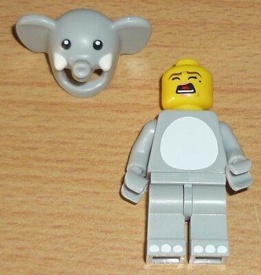 Lego City Frau im Elefantenkostüm + 2 - 2 Gesichter Kostüm
