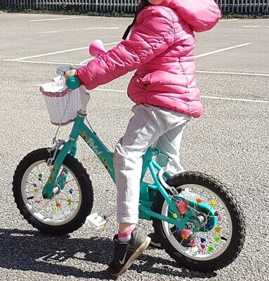 Apollo Petal 14 Inch Wheel Kids Bike with Stabilizers, 3-5 years