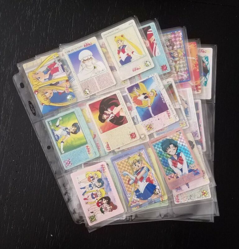 Lot of Sailor Moon R Bandai Carddass Cards