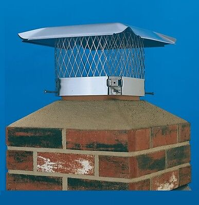 HY-C STAINLESS STEEL Single Flue Draft King Chimney Cover #SC1313 UNPAINTED CAP
