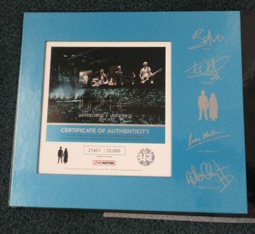 U2 INNOCENCE TOUR  AUTOGRAPHED Collectors Catalog,TICKET & VIP PASS, NO REFUNDS