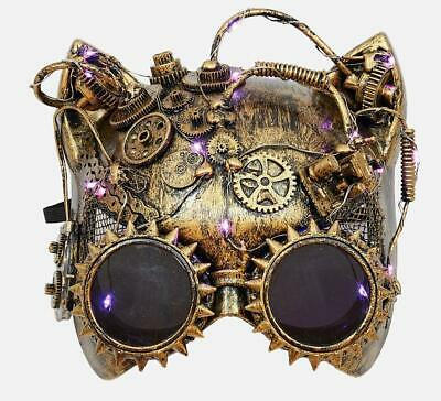 180 Degrees Steampunk Gold Mask Halloween Costume Underwater Space Decor Adult