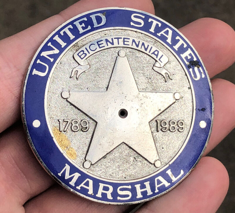 US Marshal Service Centennial Pin Maker Marked USMS Federal