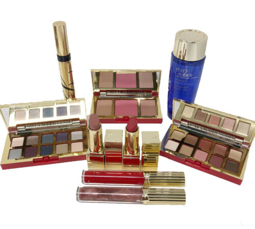 Estee Lauder 9PC Pure Color Envy Lipstick, Lip Gloss, Eyeshadow Free shipping
