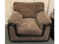 DFS brown cord fabric Armchair