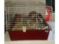 FERPLAST 100 RED CAGE. GUINEA PIG, RABBIT, SMALL FURRIES