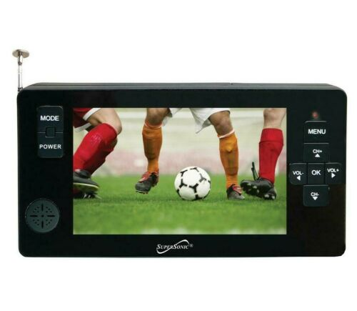 """SuperSonic SC-143 4.3"""" Portable Rechargeable Digital TV w/ USB & Micro SD Input"""