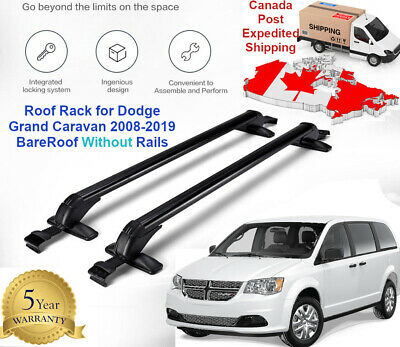 Car Top Roof Rack Bars For Dodge Grand Caravan 2008-2020 Bare Roof Without Rails