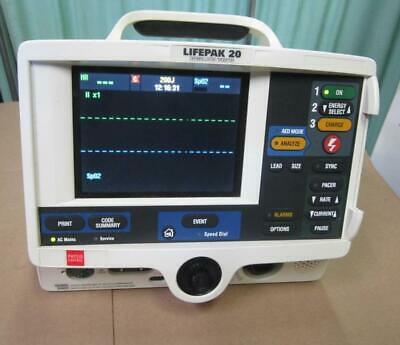 Physio-control Lifepak 20 Biphasic 3 Lead Ecg Pacing Analyze