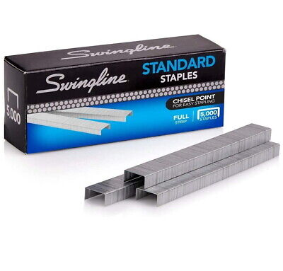 Swingline S.f. 1 Standard Economy Chisel Point 210 Full Strip Staples 5000box