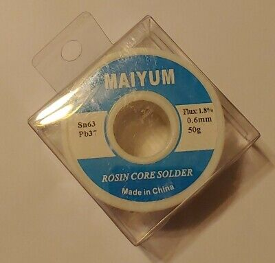 Maiyum 63-37 Tin Lead Rosin Core Solder Wire For Electrical Soldering 0.6mm 50g