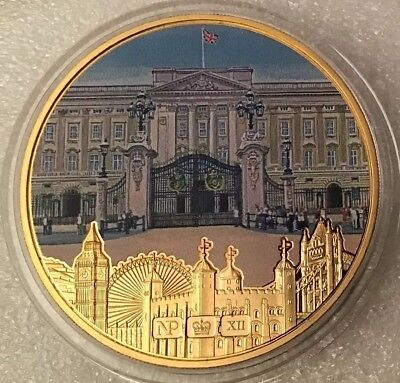 "Numisproof 2012 Gold Plated Buckingham Palace Medal ""British Iconic Buildings"""