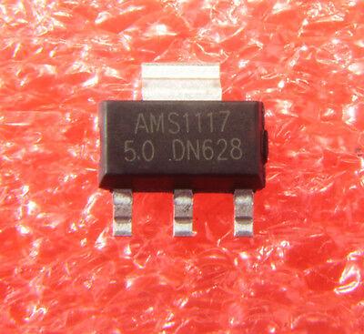 10pcs New Ams1117-5.0 Ams1117 Lm1117 5v 1a Sot-223 Voltage Regulator Ic