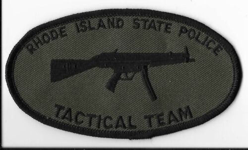 Rhode Island State Police Tactical Team Subdued Patch
