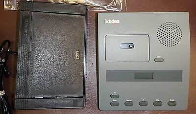 Dictaphone 3740 Microcassette Transcriber With Foot Pedal Headset Warranty