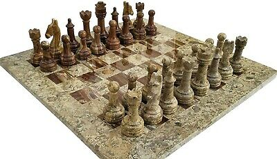 "16"" Marble Chess Set with 32 chess pcs and Velvet Gift Box"