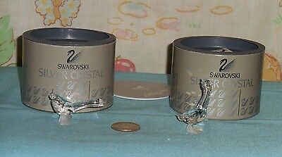 SWAROVSKI CRYSTAL GOSLING LOT x2 Art. 7613 003 004 with boxes +certificate goose