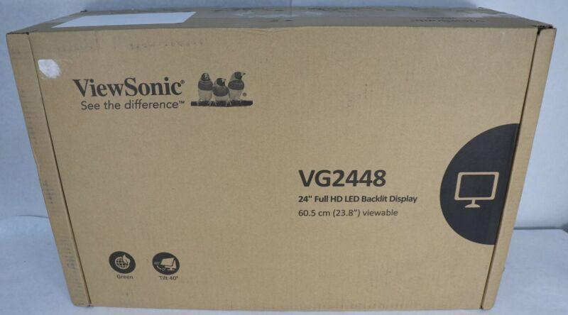 "ViewSonic VG2448 23.8"" FHD Full HD 16:9 LED Backlit Display IPS Monitor New"