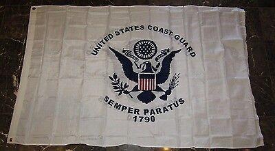 4x6 United States Coast Guard Double Sided 2ply 210D Nylon Flag 4'x6'